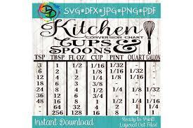 Kitchen Svg Kitchen Measurement Svg Kitchen Conversion