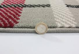 red grey tartan rug
