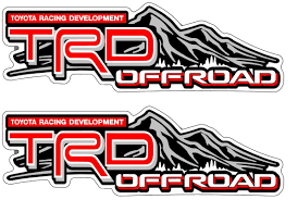 Product: PAIR TRD OFFROAD VINYL STICKERS DECALS for TOYOTA REAR ...