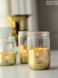Decorate Jar Candles DIY glitter and gold dipped mason jar candles for decorating or 11