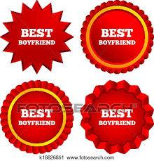 Clipart Of Best Boyfriend Sign Icon Award Symbol K18826851