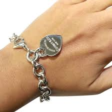 cool return to tiffany heart tag bracelet co classic sterling silver 7 necklace toggle earring choker
