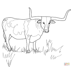 Small Picture Texas Longhorn Steer coloring page Free Printable Coloring Pages