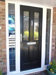 Front Doors types of front doors photographs : Exterior Design: Elegant Black Composite Front Door Design With ...