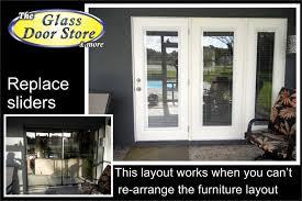 replace sliding glass door with french doors cost saudireiki