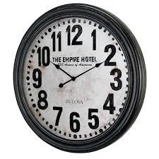 bulova wall clock with pendulum instructions oversized