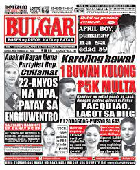 Another form of a tabloid newspaper, that is infamous in america and the. Bulgar Official On Twitter Headlines Ngayong Araw November 30 2020