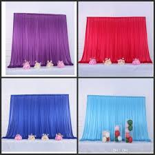 Light Blue Backdrop Curtain 10x10ft Ice Silk Elegant Wedding Backdrop Curtain Drape Wedding Supplies Curtain Drapes Background For Party Event Tied Piped