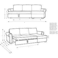 sofa bed scroll arm sofa