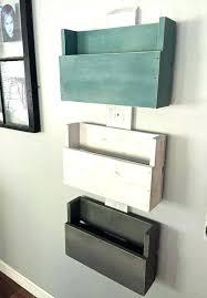 diy wall mail organizer