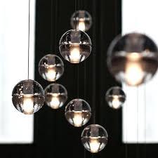 ball chandelier lights glass ball lighting large h co inside fixtures plan 3 light crystal ball