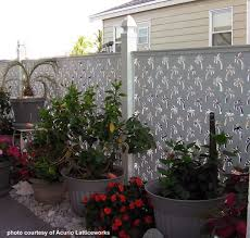 Delighful Vinyl Privacy Fence Ideas With Palm Tree Intended Decor