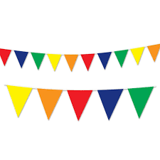 Pendant Banner Club Pack Of 12 Multi Colored Circus Themed Outdoor Pennant Banner