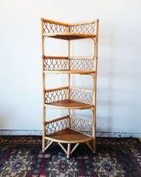 Wicker Corner Shelves Vintage bamboo magazine rack Vintage Magazines and Magazine racks 45