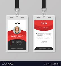 Company Id Card Template Professional Employee Id Card Template