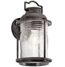 Kichler WZC Ashland Bay Vintage Weathered Zinc Exterior Wall - Kichler exterior lighting