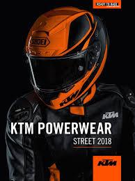 Ktm Jacket Size Chart Ktm Powerwear Street Catalog 2018 Usa By Ktm Group Issuu