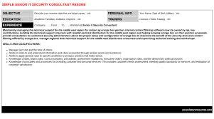Sample Security Consultant Resume Senior It Security Consultant Cv Cover Letter Resume Template