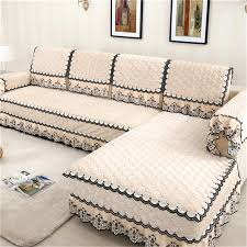 living room graceful l shaped sofa covers cover fashion towel pads fleeced fabric knit corner
