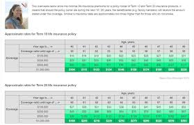 term life insurance rates details
