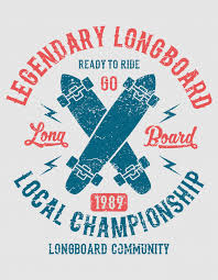 <b>Legendary longboard</b>, ready to ride. vintage design | Premium Vector