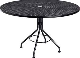 round mesh top outdoor table with umbrella hole modern