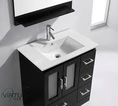 virtu usa zola 30 single bathroom vanity set in espresso