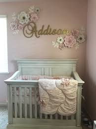 baby girl nursery with pink and gold theme design baby room wall design ideas of wall