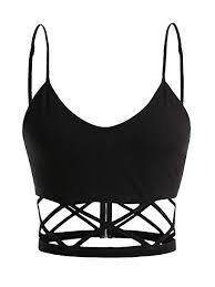 SheIn <b>Women's Sexy</b> Straps Sleeveless Cutout <b>Crisscross</b> Zipper ...
