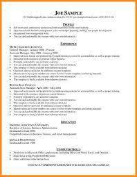 Example Of Online Resume