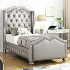 upholstered twin bed. Brilliant Upholstered Coaster Belmont Twin Upholstered Bed With Tufted Wing Headboard   Fine Furniture Throughout P