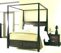 Gold Canopy Bed Frame Canopy Bed Frame Queen Wood Canopy Bed Frame ...
