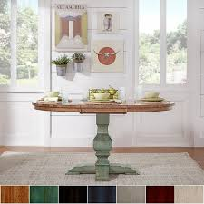 furniture kitchen dining room tables eleanor two tone oval solid wood top extending dining table by inspire q clic