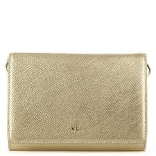 darlington gold leather envelope clutch