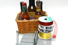 father s day hot sauce gift basket with bowdabra bow