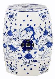 cloud blue 9 chinoiserie garden stool