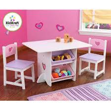 Kidkraft 26913 heart set tavolo e sedia per bambini con cestelli