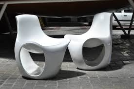Space Age Furniture Set Of Six Fiberglass Space Age Lounge Chairs 1970s At 1stdibs