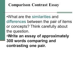 comparison contrast essay ppt video online  comparison contrast essay