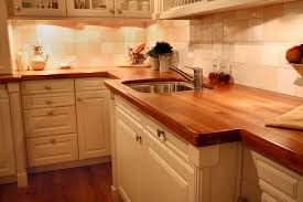 image of angreeable butchers block countertop