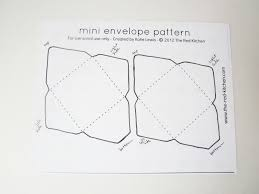 mini envelopes templates the kitchen diy mini envelopes free printable pattern tutorial