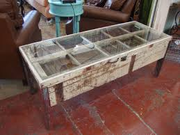Here are some more examples of similar tables we've made using salvaged window  frames: