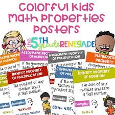 Properties Of Operations Chart Math Properties Posters With A Melonheadz Cute Kids Theme Tpt