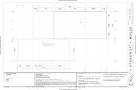... Farnsworth House Floor Plan Plans Dimensions Site Pdf