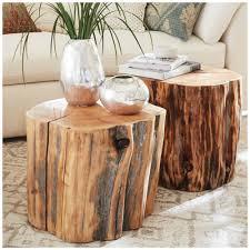 Suitcase Nightstand coffee table fabulous wood slice side table fabric coffee table 7740 by guidejewelry.us
