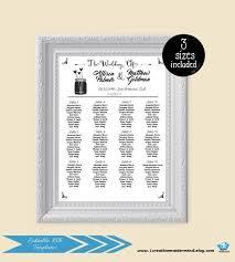 Editable Seating Chart Wedding Diy Wedding Seating Chart Editable Seating Plan Template