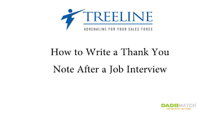 How To Write A Thank You Note After A Job Interview Youtube
