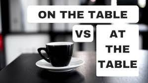 Image result for on the table