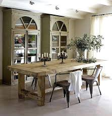 rustic round dining table distressed wood set