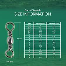 Fishing Barrel Swivel Size Chart Riptail Barrel Fishing Swivels Steel With Corrosion Resistant Finish